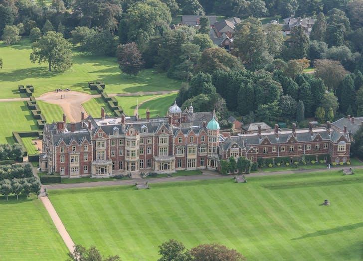 Sandringham Estate aerial view