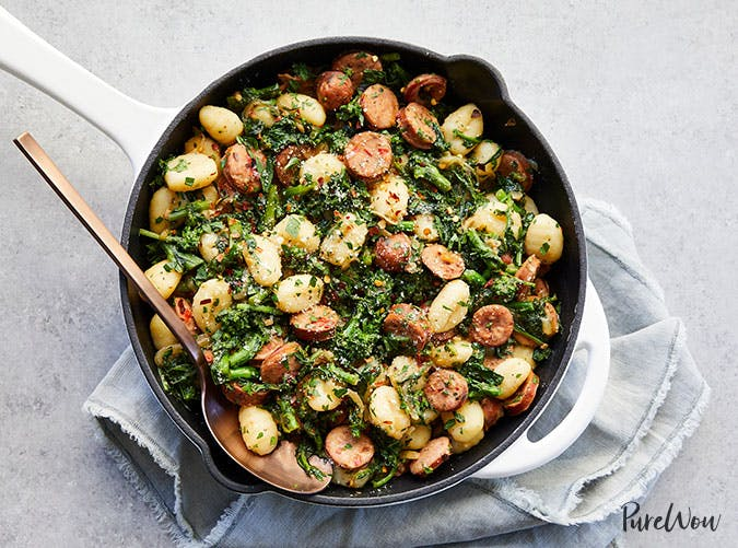 Skillet Gnocchi with Sausage and Broccoli Rabe1