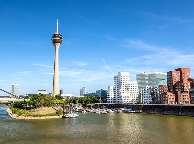 Skyline of Du sseldorf city in Germany