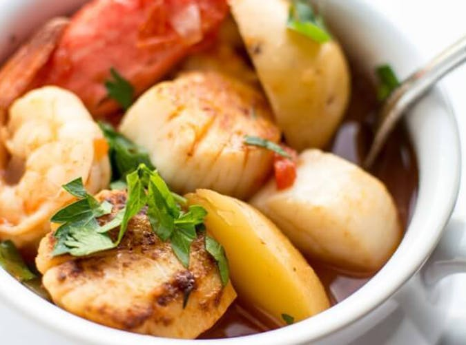 Slow Cooker Seafood Stew mediterranean diet slow cooker recipe