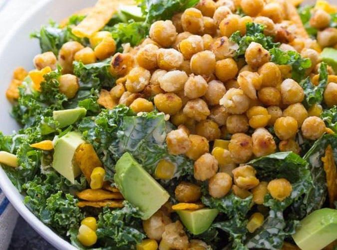Southwestern Caesar Salad with Garlic Chickpeas 3 600x900