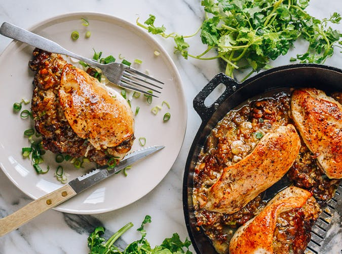 Sticky Rice Stuffed Chicken Breast recipe
