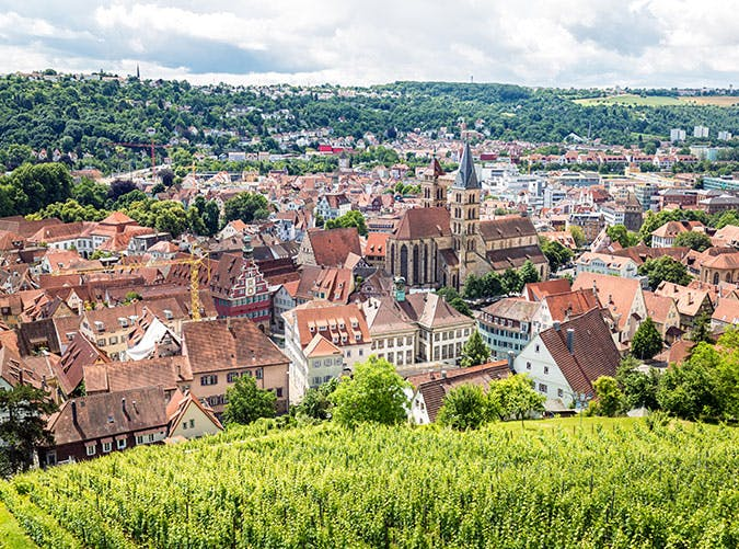 Stuttgart Esslingen old town centre in Germany