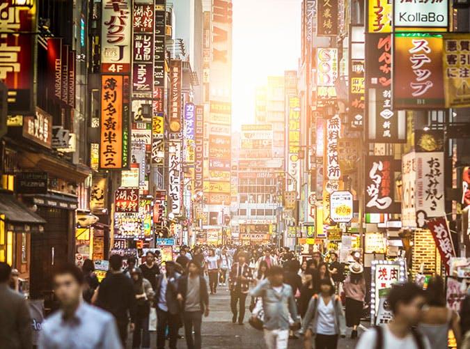Sunset at Shinjuku  Tokyo city inJapan
