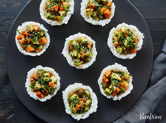 Sushi Cups vegetabale recipes for kids