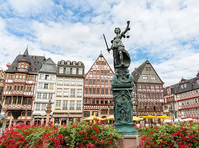 Town square in Frankfurt Germany