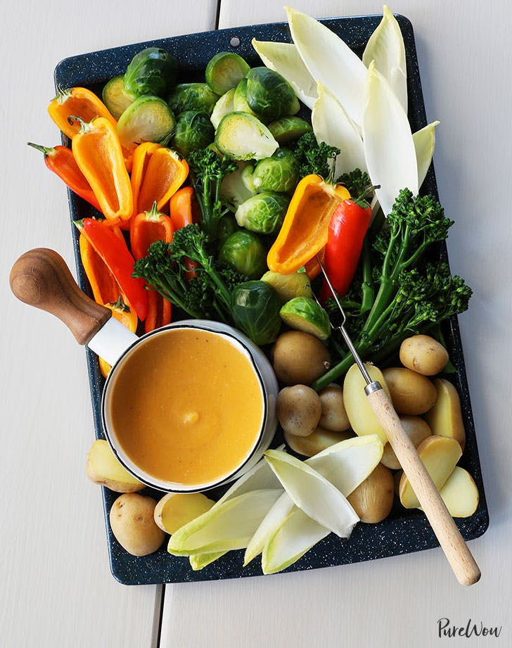 Vegan butternut squash fondue new years eve appetizer