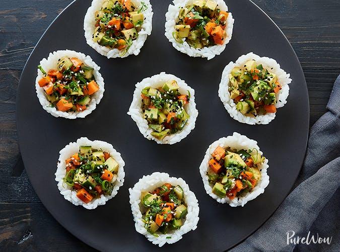 Vegetarian Sushi Cups vegetarian clean eating recipe
