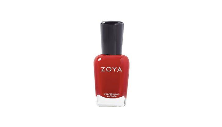 Zoya red nail polish