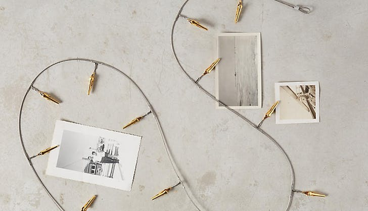anthropologie wire photo display photo gifts