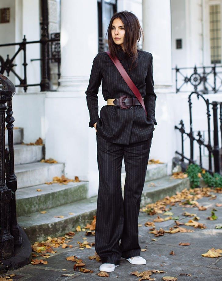 belt your suit jacket january winter outfit ideas