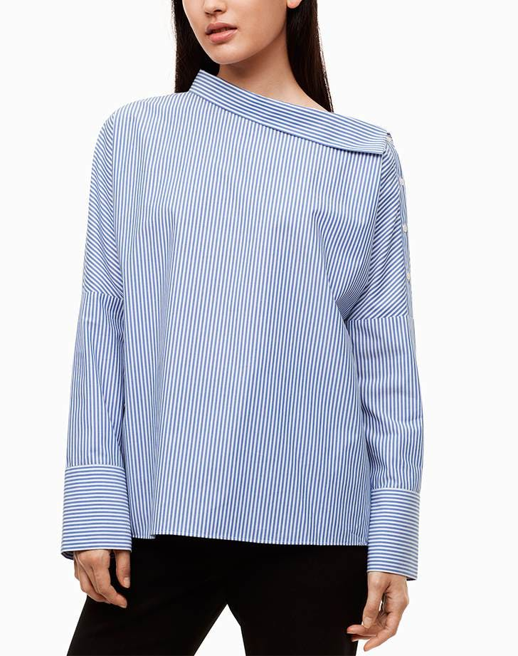 best things to buy at aritzia striped blouse
