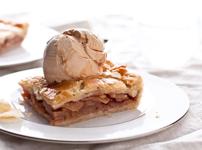 bourbon caramel slab pie