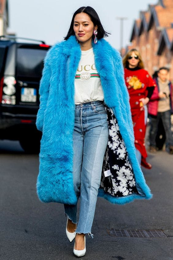 bright color coat january winter outfit ideas