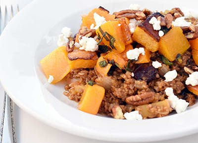 bulgur roasted butternut squash sage goat cheese 290