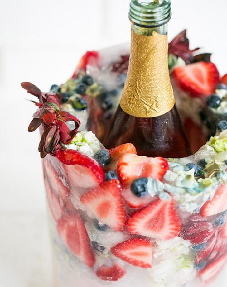 champagne flower bucket