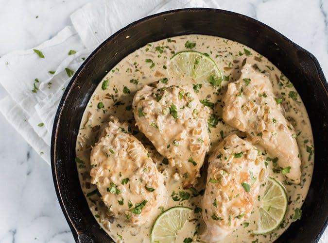 creamy cilantro lime chicken skillet recipe 501