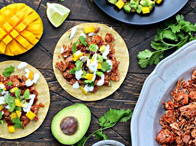 diet slow cooker jackfruit tacos