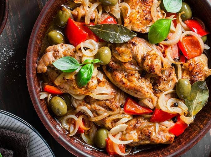 diet slow cooker mediterranean chicken