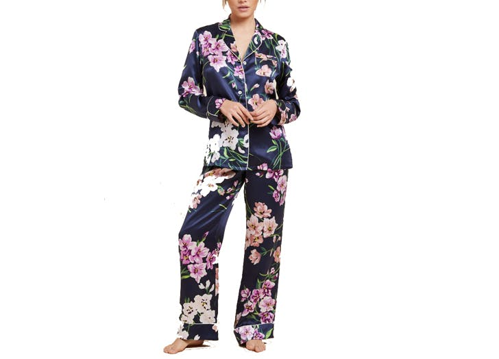 english silk pajamas