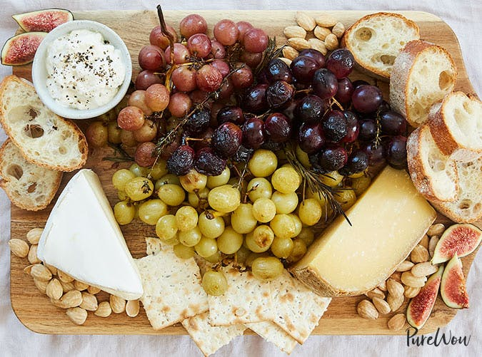 essential holiday recipes cheese plate roast grapes
