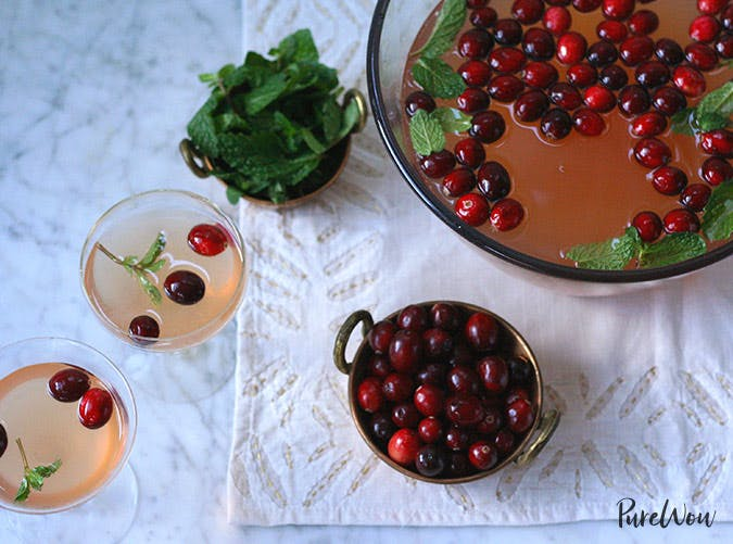 essential holiday recipes cranberry mint punch