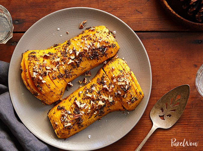 essential holiday recipes hasselback buttnernut squash