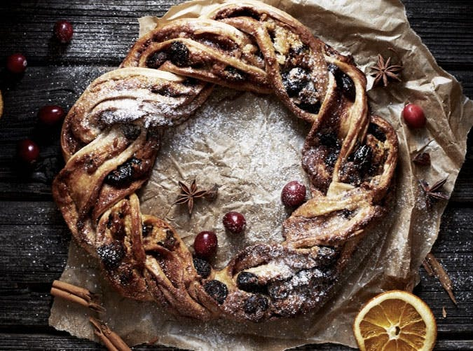 essential holiday recipes stollen wreath