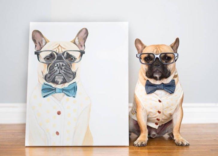 etsy dog print