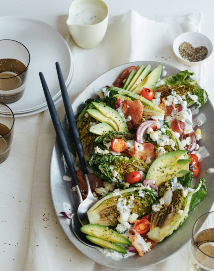 grilled gem lettuce salad