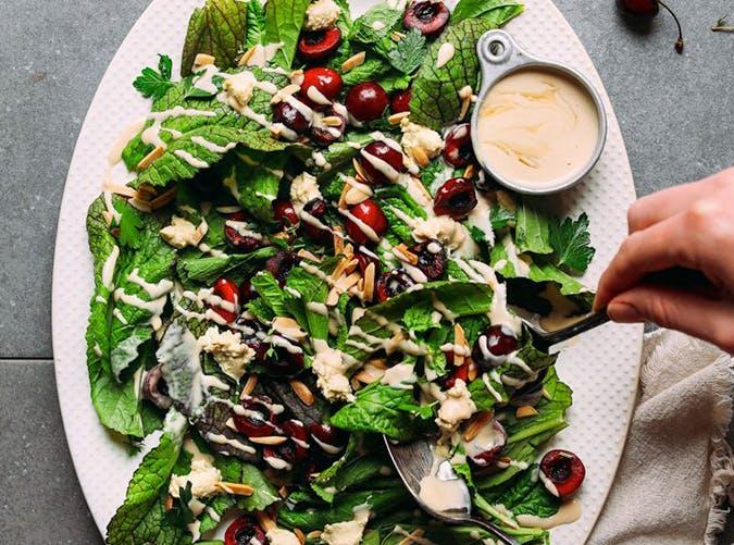 healthy mustard salad