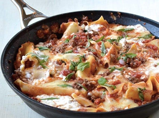 healthy skillet lasagna recipe 501