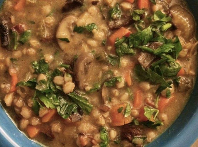 ina garten wild mushroom and farro soup recipe 501