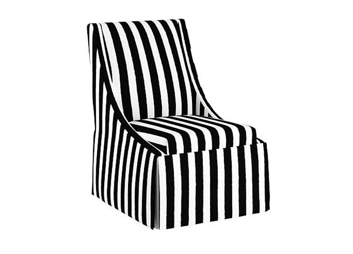 iris apfel striped chair