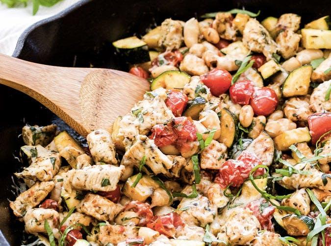 italian chicken vegetable skillet recipe 501