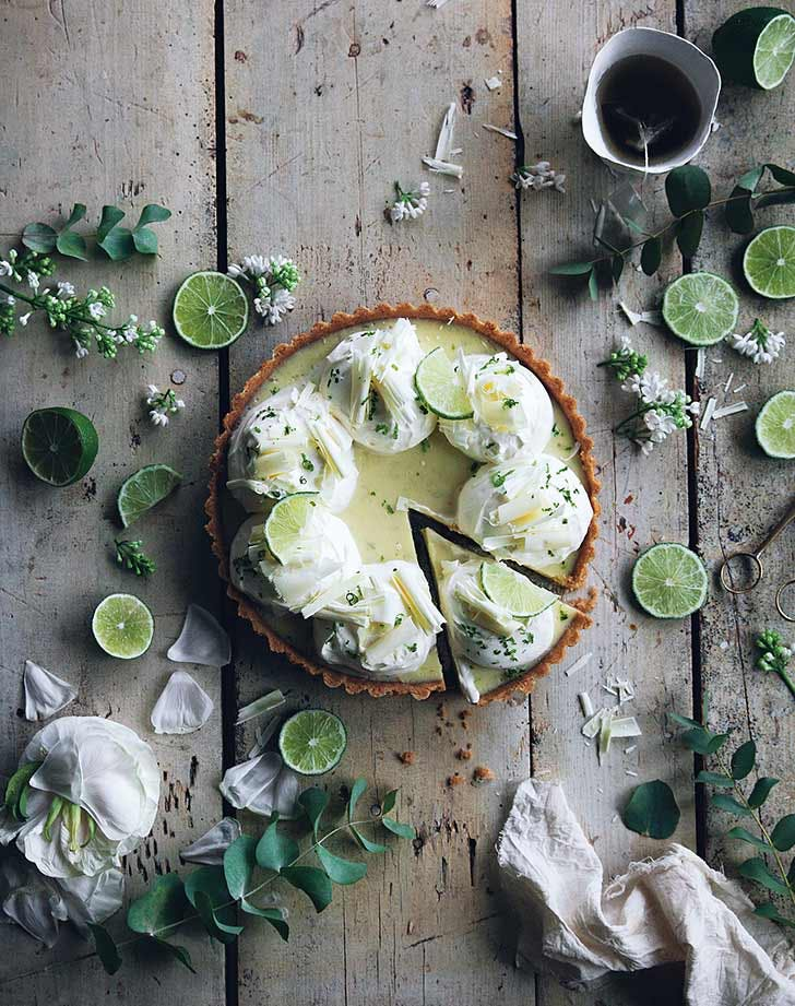 Key Lime Pie with Coconut and White Chocolate
