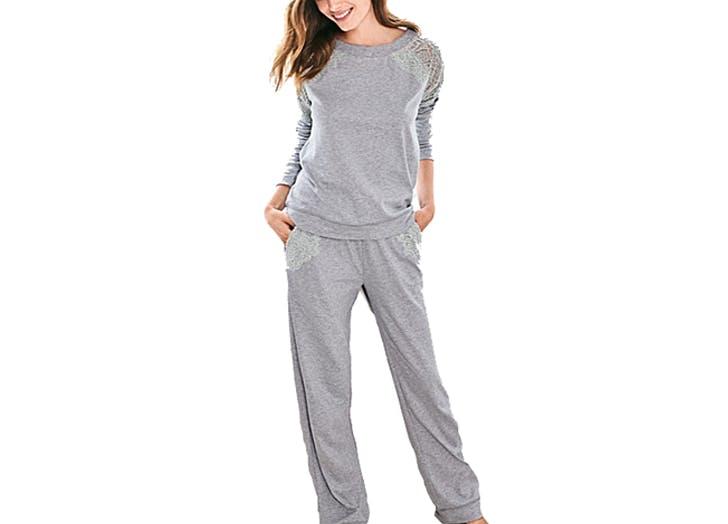 lacey sweats pajamas