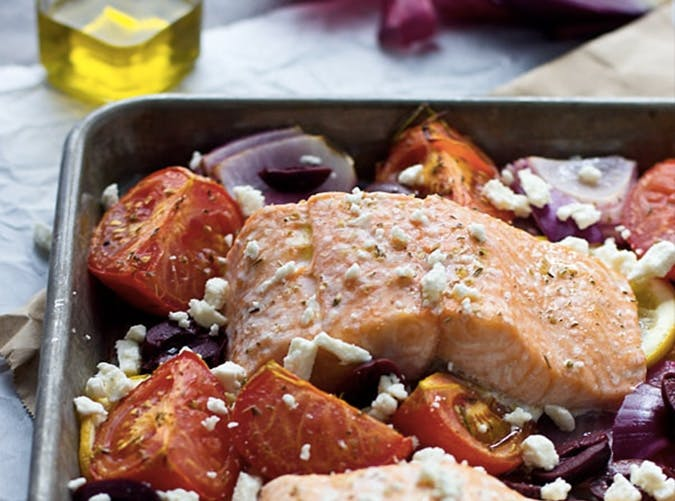 lazy dinners greek salmon