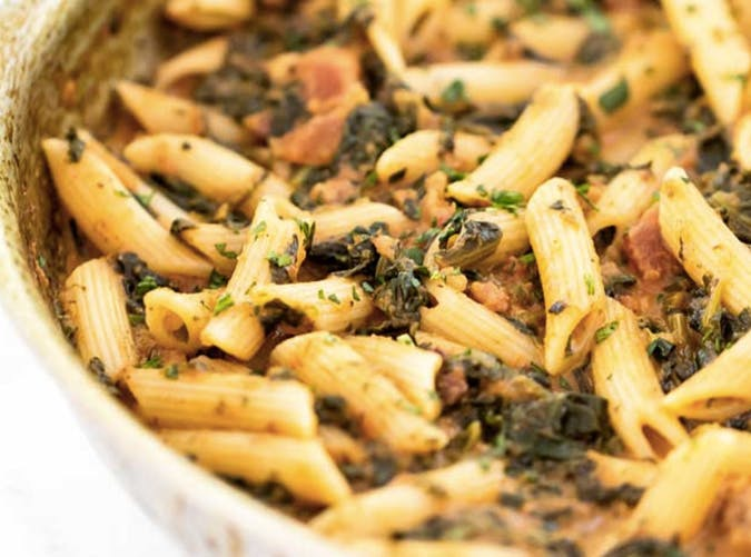 lazy dinners penne pancetta