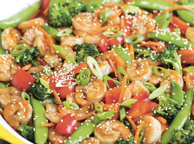 lazy dinners shrimp stir fry