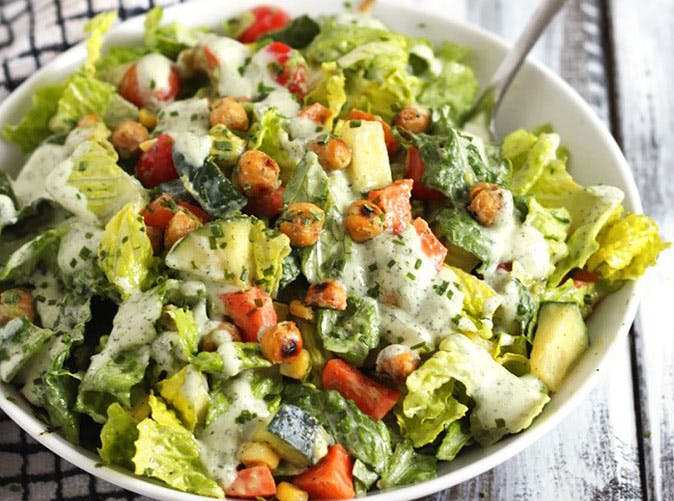 meghan markle chopped vegan salad