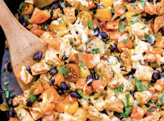 mexican chicket sweet potato bean skillet recipe 501