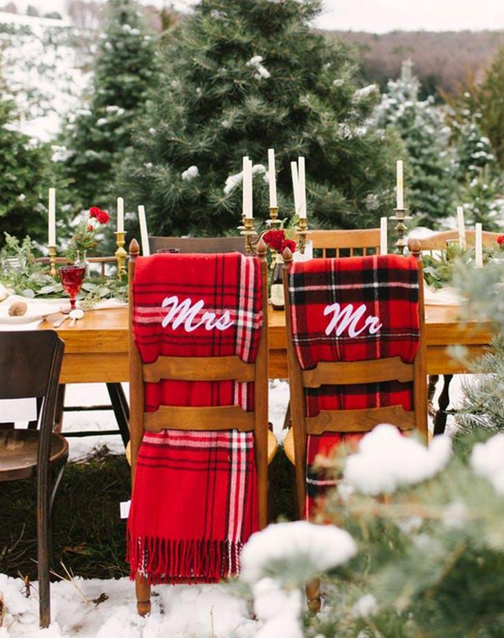 mr and mrs blankets winter wedding ideas