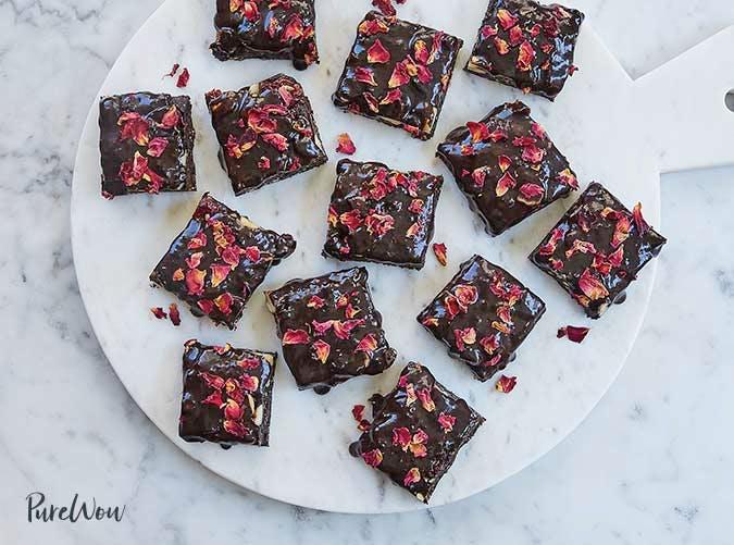 no bake rose brownies