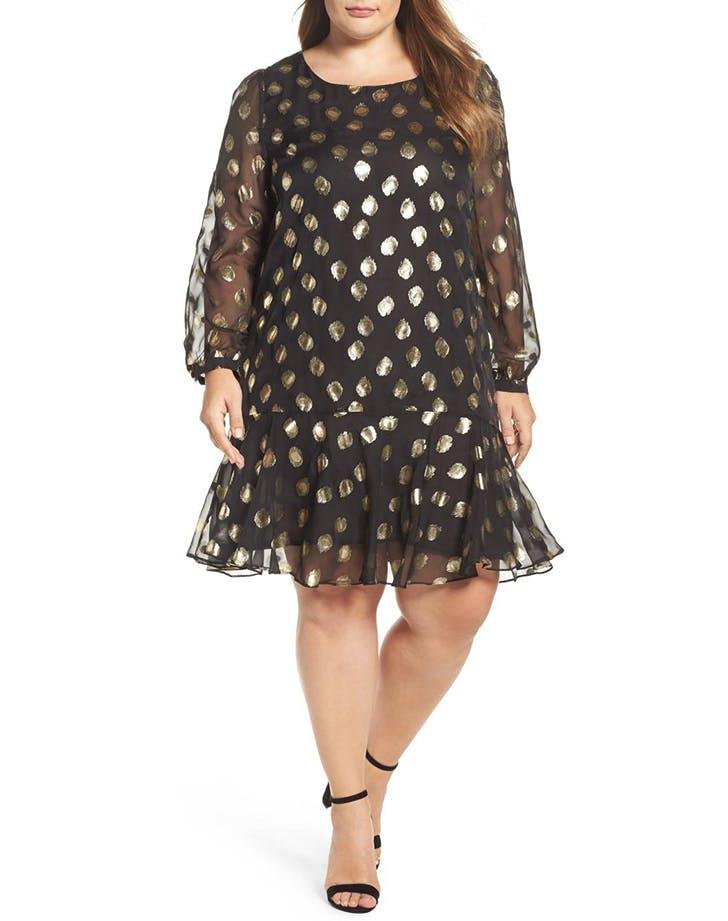 nye dresses polka dot