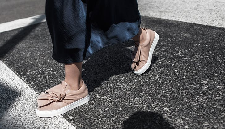 oversized bows and knots sneaker trends in 2018