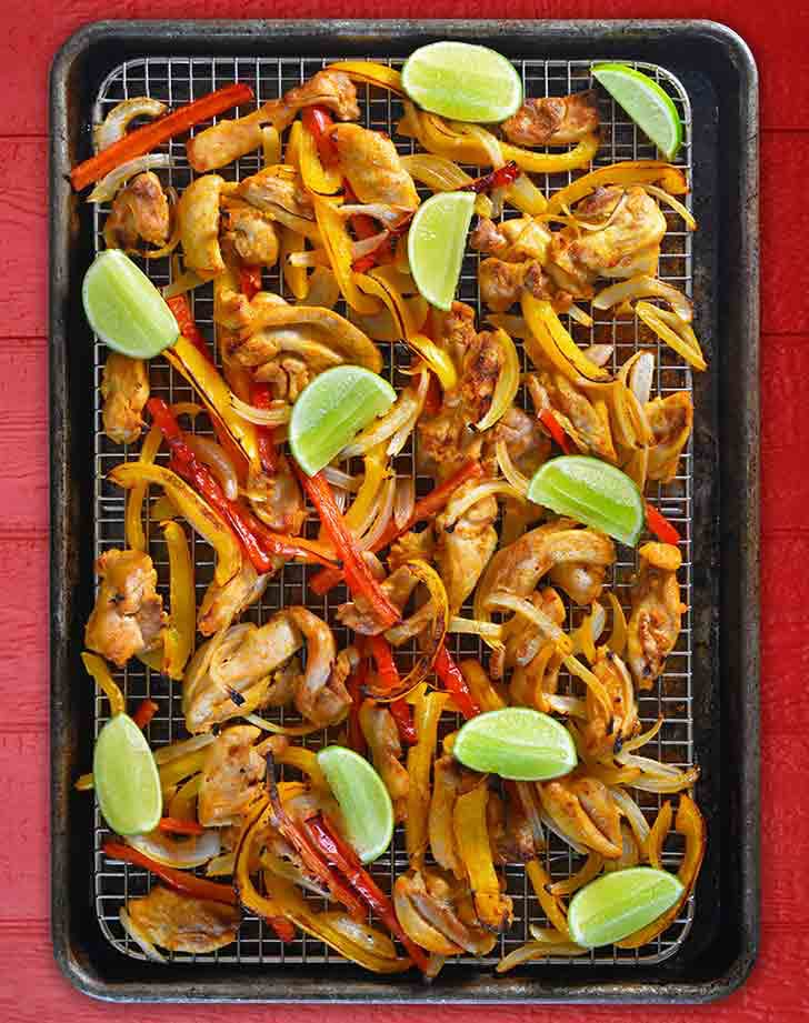 paleo sheet pan dinner chicken fajitas