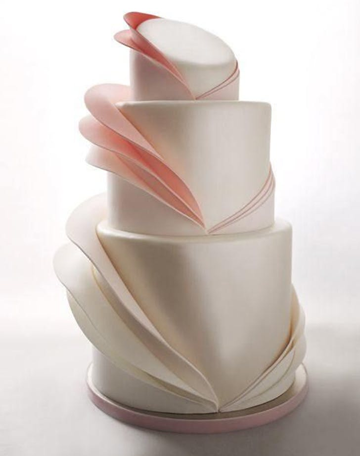 pleated wedding cake trend 2