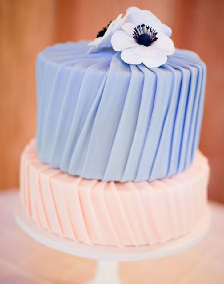 pleated wedding cake trend 3