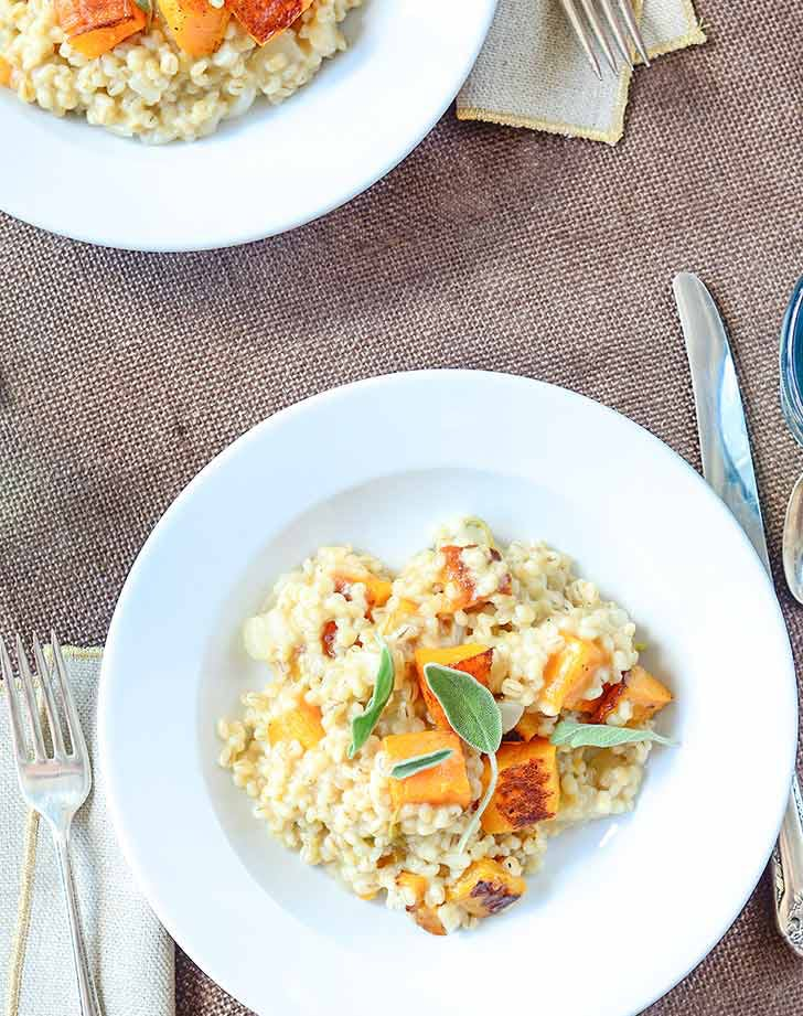 Sage-Barley Risotto with Butternut Squash